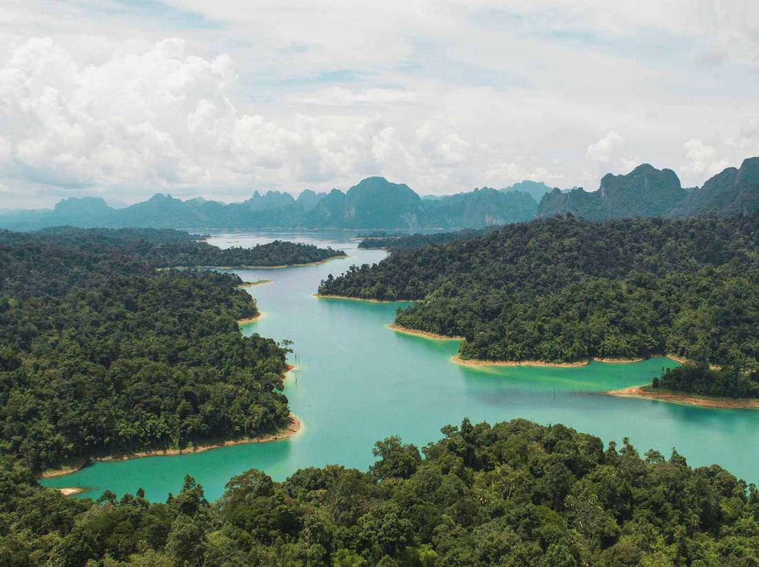 Drone Shot Of Khao Sok National Park