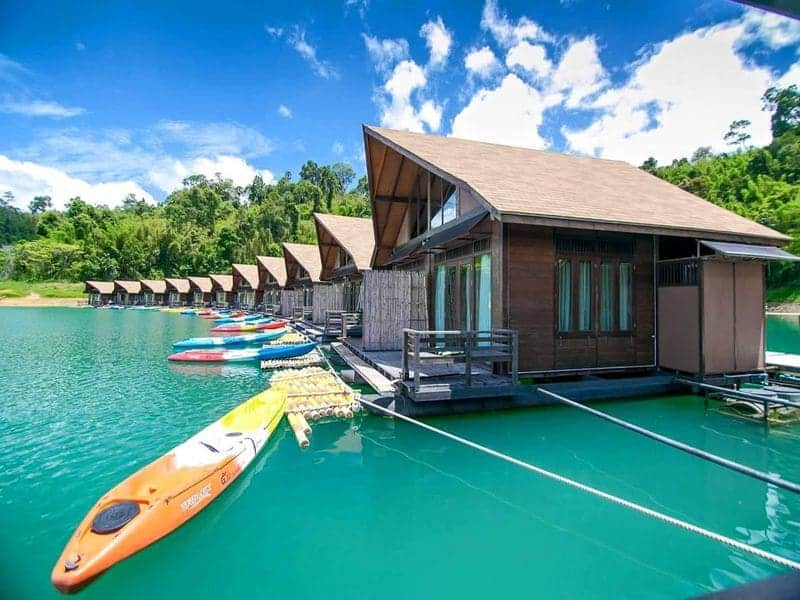 khao sok floating bungalow