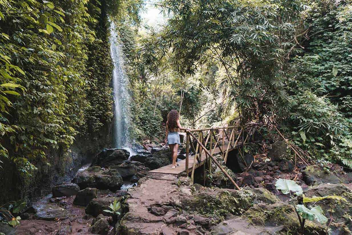 tibumana waterfall bali path