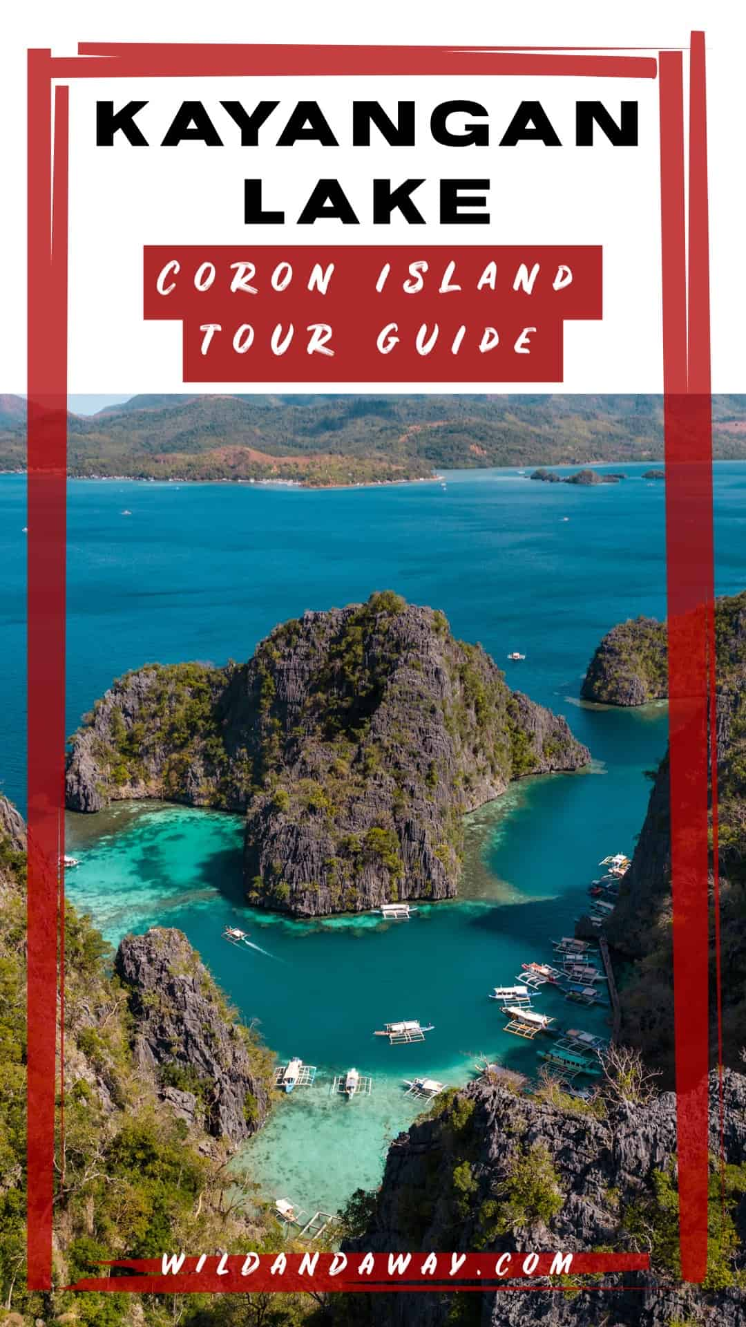 Kayangan Lake Coron Island Boat Tour pinterest