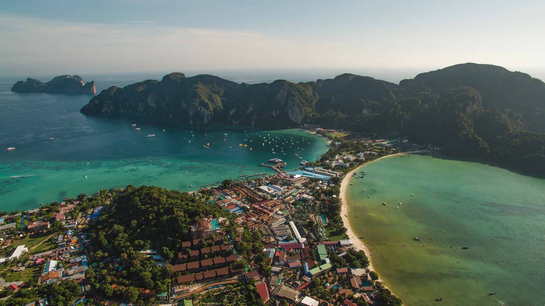 phi phi viewpoint drone shot