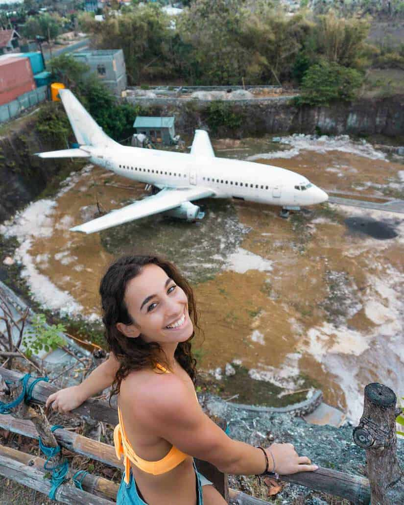 abandoned plane top things to do in bali indonesia