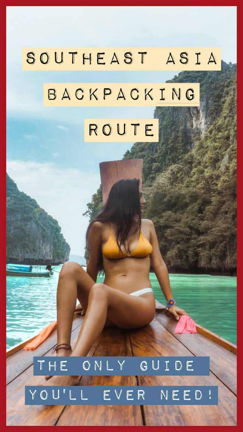 southeast asia backpacking route pinterest