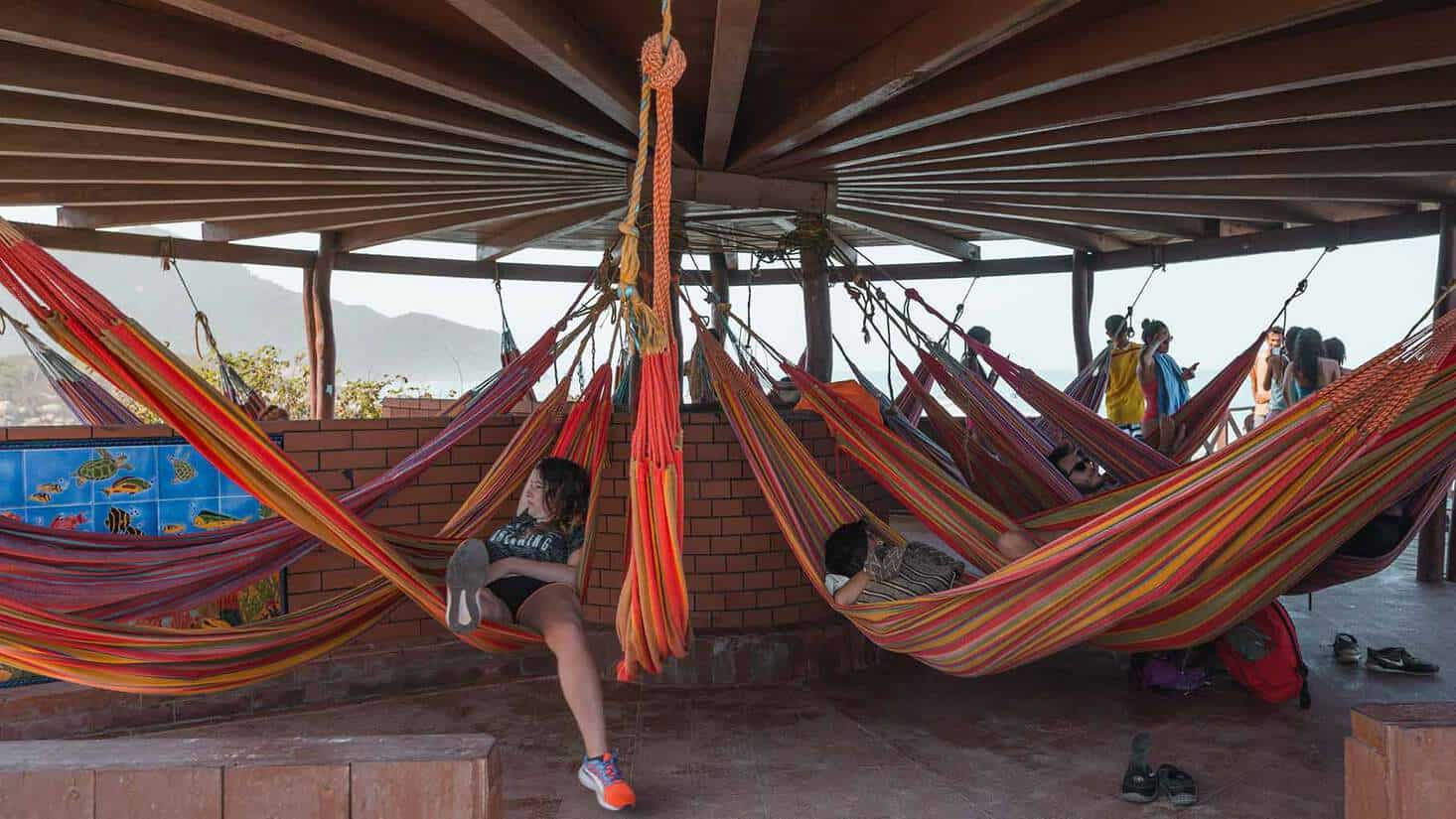 visiting tayrona national park colombia hammocks
