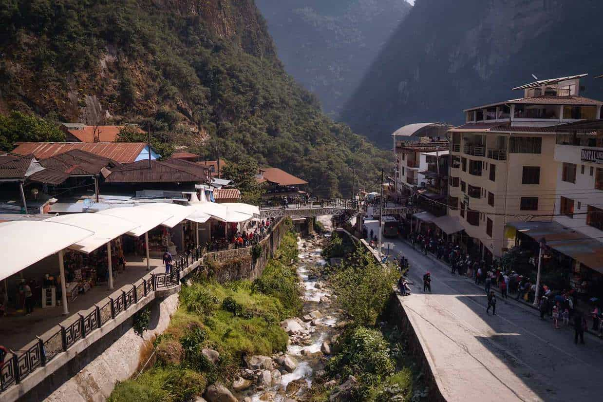 aguas calientes to machu picchu